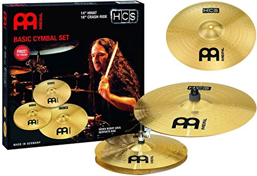 meinl cymbals hcs1418 14c hcs cymbal box set pack with 14 inch hi hat pair 18 inch crash ride. Black Bedroom Furniture Sets. Home Design Ideas