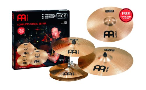 meinl cymbals mcs mcs18mc mcs cymbal box set pack with 14 hi hat pair 16 crash 20 ride. Black Bedroom Furniture Sets. Home Design Ideas