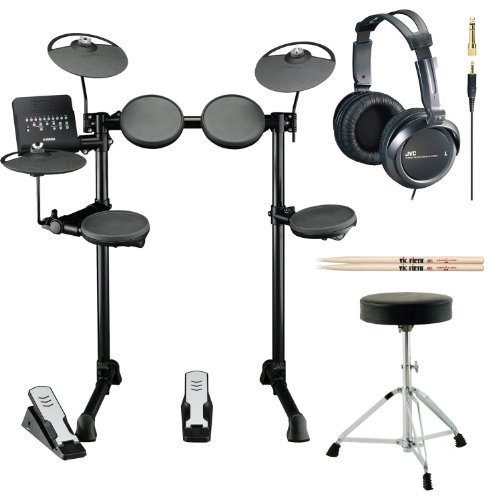 Yamaha-DTX-Series-DTX400K-10-Inch-Electronic-Drum-Set-with-Drum-Throne-Vic-Firth-5A-Drumsticks-and-Full-Size-Stereo-Headphones-0