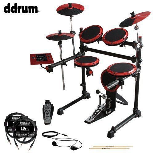 ddrum-DD1-Complete-Electronic-Drum-Kit-with-ChromaCast-10ft-Cables-Earbuds-GoDpsMusic-5A-Drumsticks-0